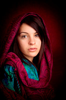 Attractive woman with scarf